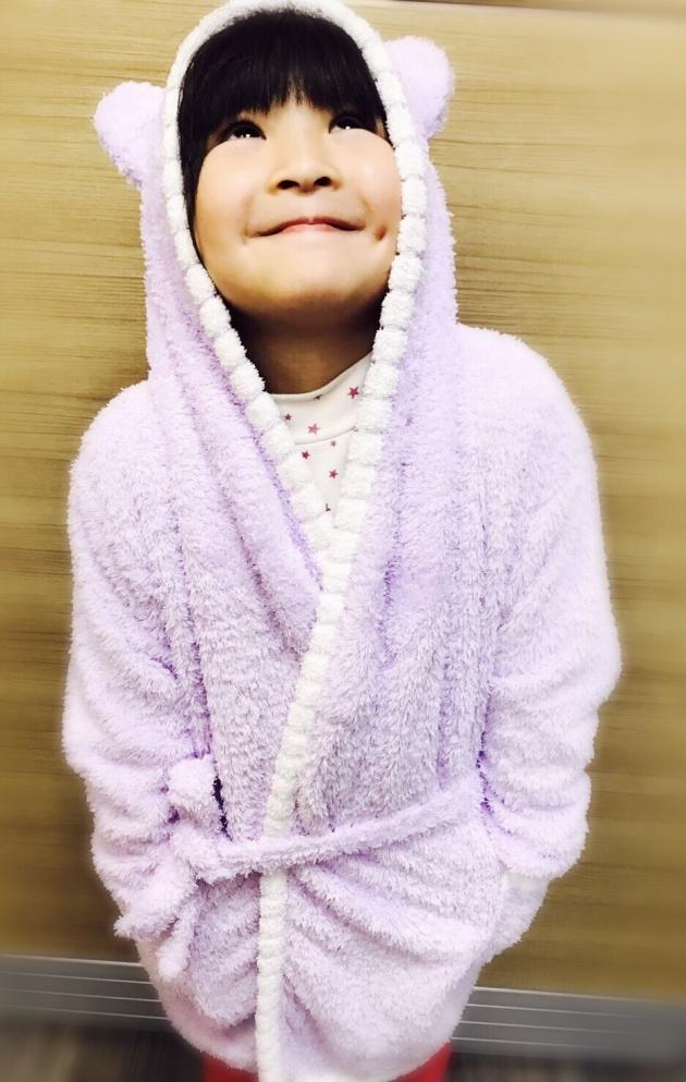 Kid's Piping Hooded Bathrobe 6~10years 1