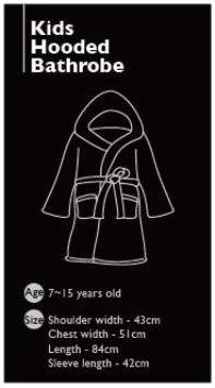 Kid's Hooded Bathrobe 7~15years 4