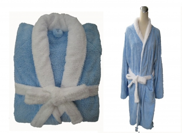 Adult's Two Tone Shawl Collar Robe 4
