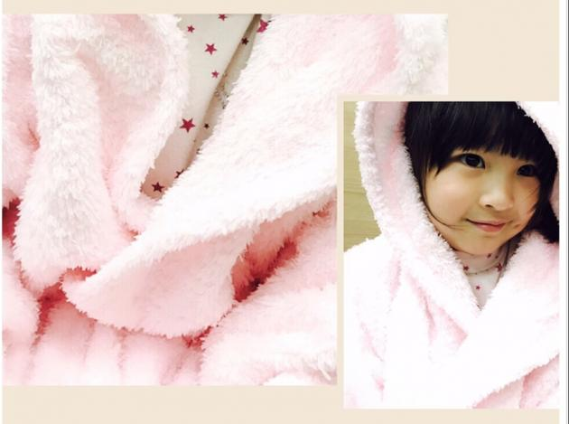 Kid's Hooded Bathrobe 7~15years 3