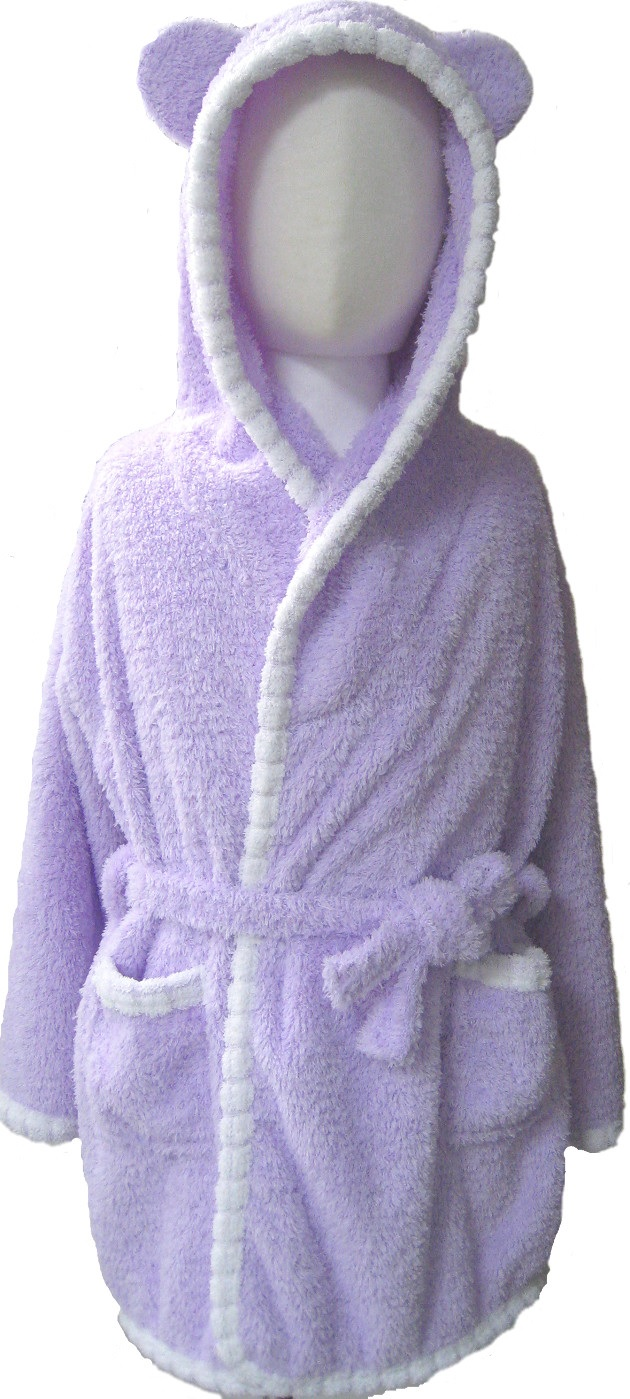 Baby Piping Hooded Bathrobe 2~5years 1