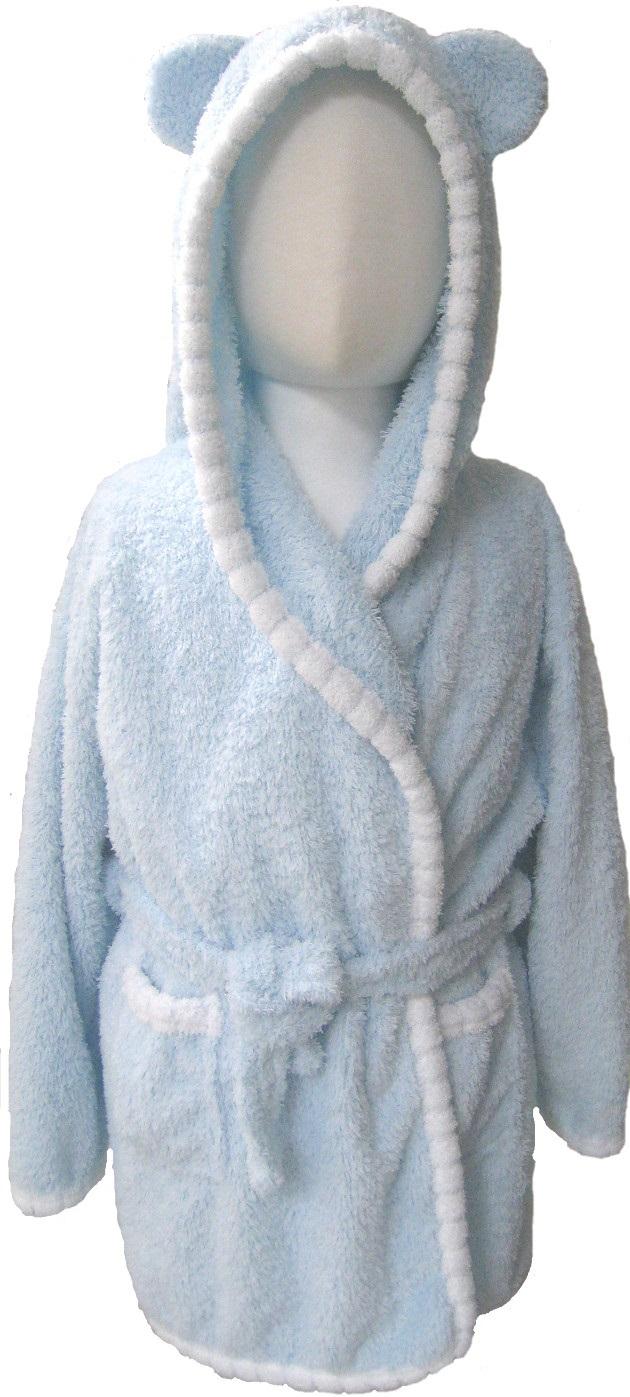 Baby Piping Hooded Bathrobe 2~5years 2